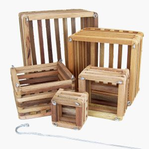 wood baskets square