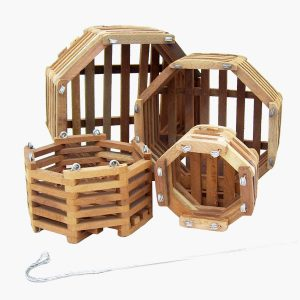 Ocatgon Wood Basket